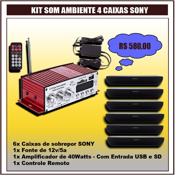 Kit Som Ambiente 6 Caixas Sony