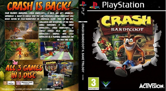 Coleção Crash Ps1 5 Jogos + Frete Grátis Para Todo Brasil