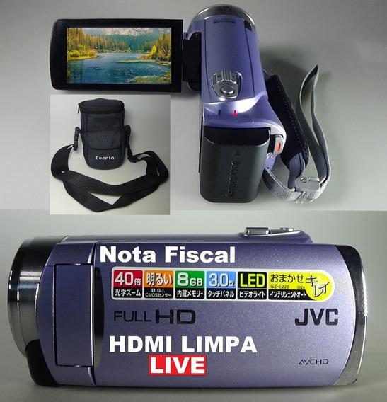 Filmadora Jvc Gz-e225v Full Hd Hdmi Limpa Para Live