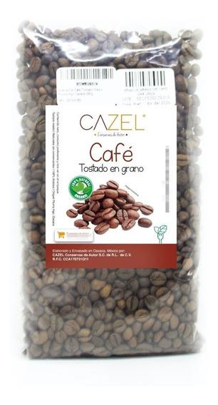 Café Pluma Hgo Oax En Grano Tostado Medio 500g Envío Gratis