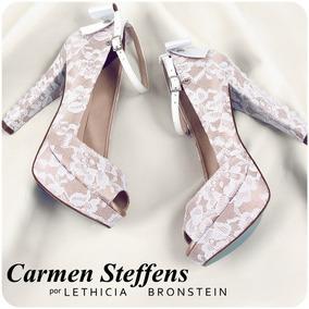 91d58f0c9 Sandália Para Noiva Carmen Steffens By Lethicia Bronstein - Sapatos ...