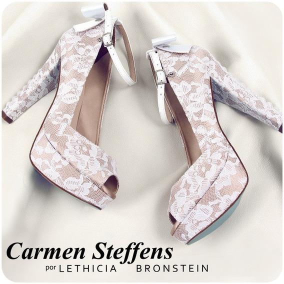 Sapato Peep Toe Carmen Steffens Por Lethicia Bronstein
