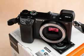 Câmera Sony A6000 + Lente 16-50 Oss + Adaptador Lentes Canon
