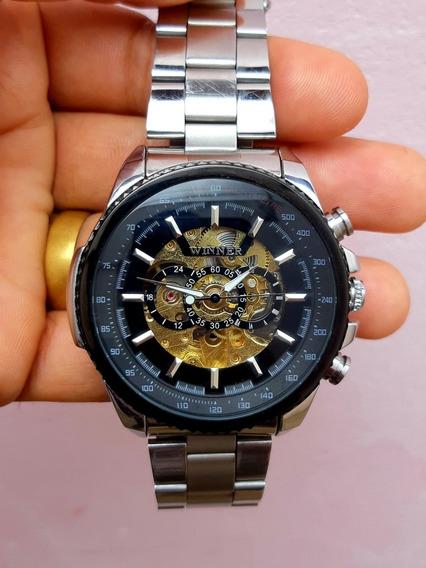 Relógio Winner Automático Prata Com Dourado