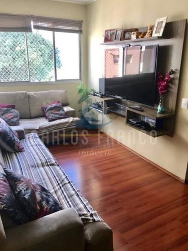 Imagem 1 de 11 de Apartamento Com 3 Dormitórios À Venda, 85 M² Por R$ 640.000,00 - Campo Belo - São Paulo/sp - Cf70014