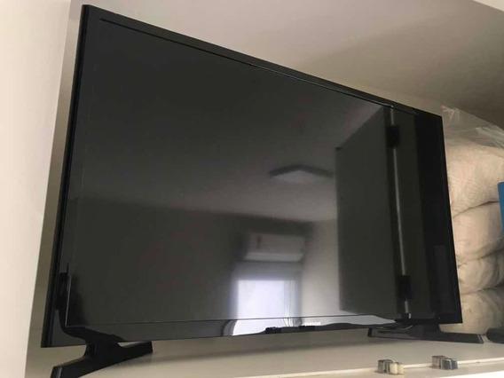 Tv Samsung Com Tela Queimada - Para Retirada De Peças
