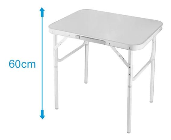 Mesa Dobravel De Aluminio Com Tampo Mdf 600x450 Vira Maleta