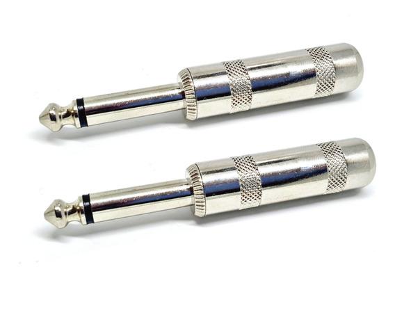Kit 2 Plug P10 Mono Premium Metal + Resiste Metal Grosso