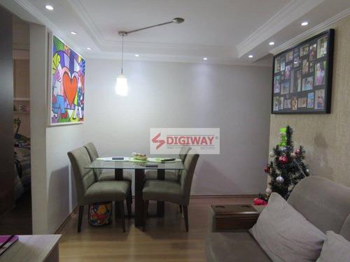 Apartamento Com 2 Dormitórios À Venda, 48 M² Por R$ 269.000,00 - Jardim Vergueiro (sacomã) - São Paulo/sp - Ap2148