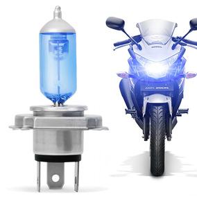 Lâmpada H4 Moto Super Branca Techone 8500k Tipo Xenon Unid