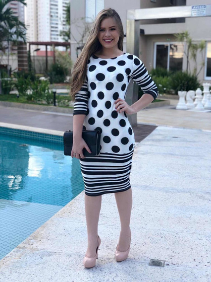 Kit Com 3 Vestidos Em Neoprene