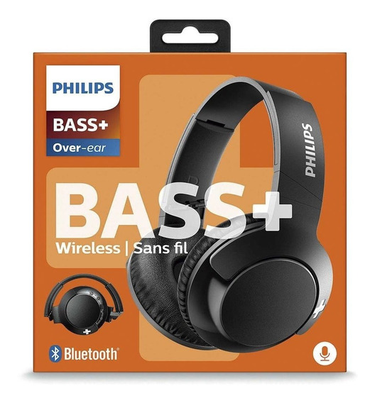 Headphone Philips Shb3175 Bass+ Bluetooth 4.1 Preto