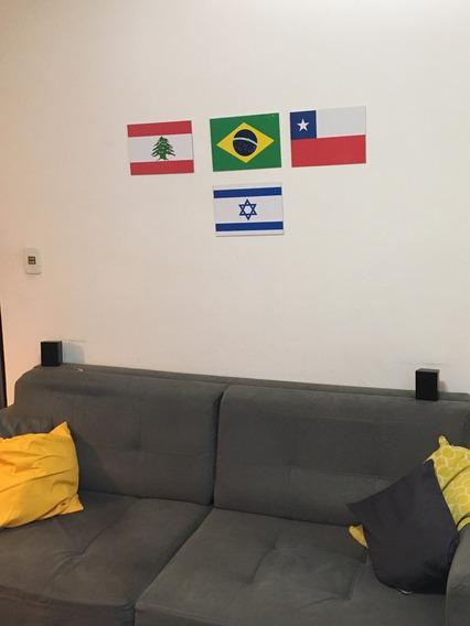 Kit Com 2 Placa Quadro Decorativo Das Bandeiras 28x20 Cm