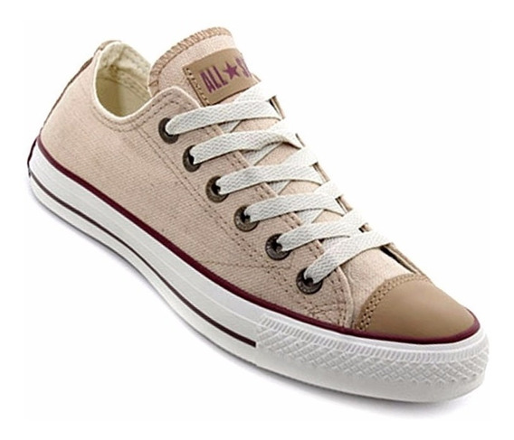 157077c Converse All Star Lino Natural Ox Caña Baja Unisex