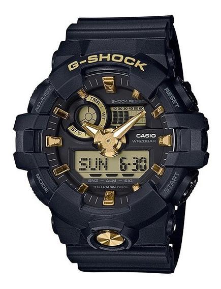 Reloj Casio G Shock Ga 710b1a9 Dorado Cristal Mineral