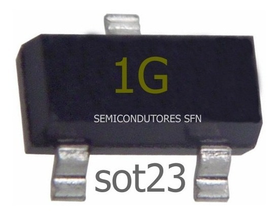 Bc847c Transistor Smd 1 G Amplificador Uso Geral 130unidades