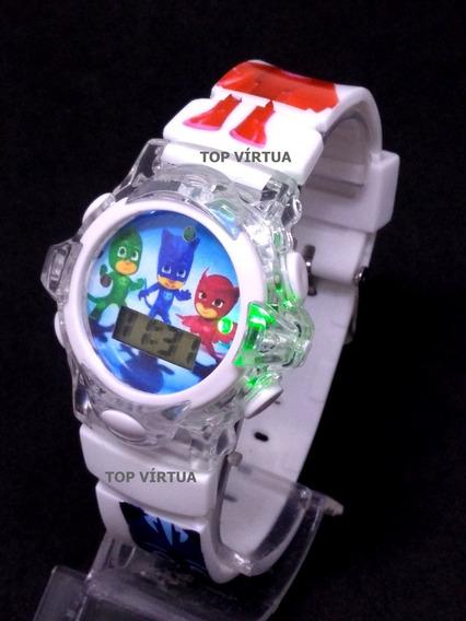 Relógio Infantil Pjmasks Com Música E Luzes Coloridas