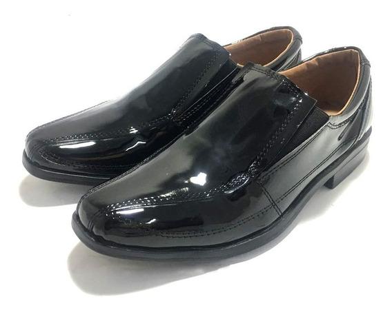 Zapatos De Vestir De Niños Con Elastico Charol (12/1233)