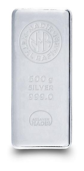 Lingote De Plata Pura 999 De 500 Gramos Nadir Certifica