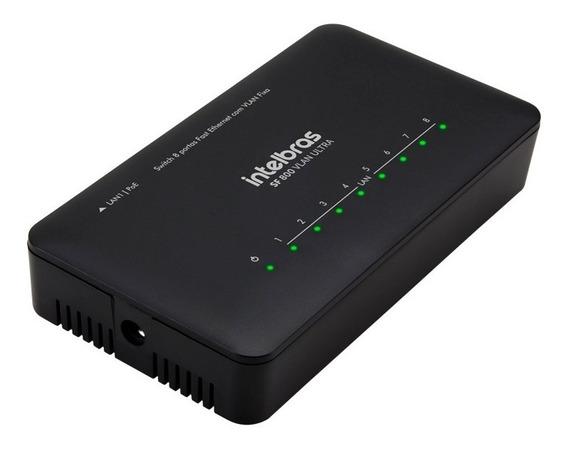 Switch Roteador Intelbras 8 Portas Sf 800 Vlan Ultra