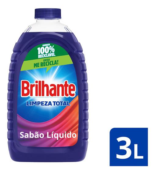 Lava-roupas Líquido Roupas Brilhante Limpeza Total 3l