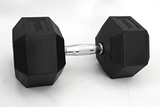 Par De Dumbbell Hexagonal Emborrachado 10kg