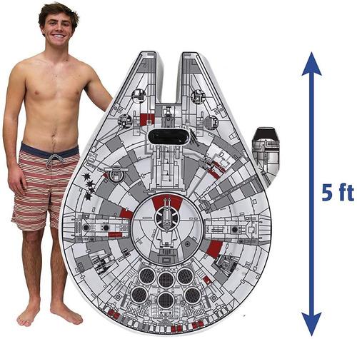Cama Inflable Flotador De Alberca Nave Espacial Star Wars