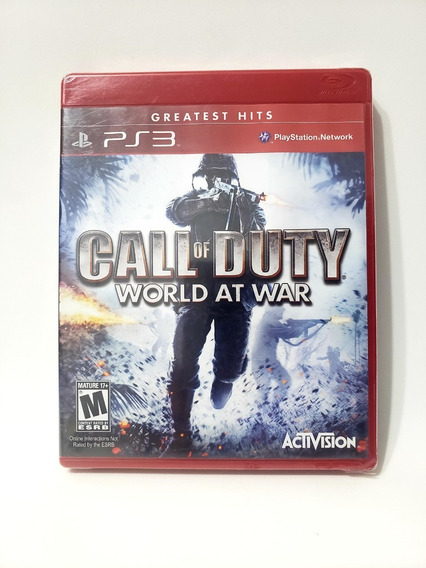 Jogo Call Of Duty World At War Ps3 Mídia Física Novo Lacrado
