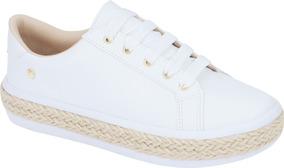 Tenis Feminino Sapato Sapatenis Casual   Branco, Nude, Preto