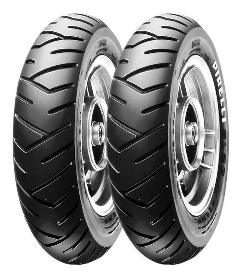 2 Pneu Moto Pirelli 100/90-10 56j 90/90-12 44j Sl26