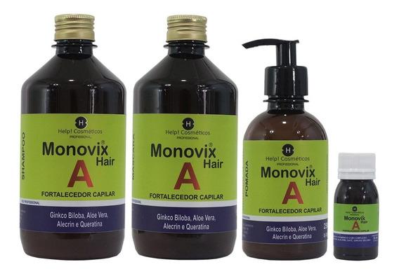 Kit Monovin A Crescimento Capilar( Kit 4 Itens )completo