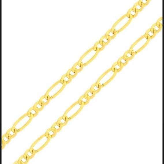 Corrente Cordão Masculino 60cm 3x1 Grumet Ouro 18k