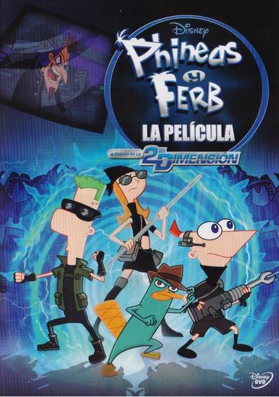 Phineas Y Ferb La Pelicula A Traves De La 2 Dimension Dvd