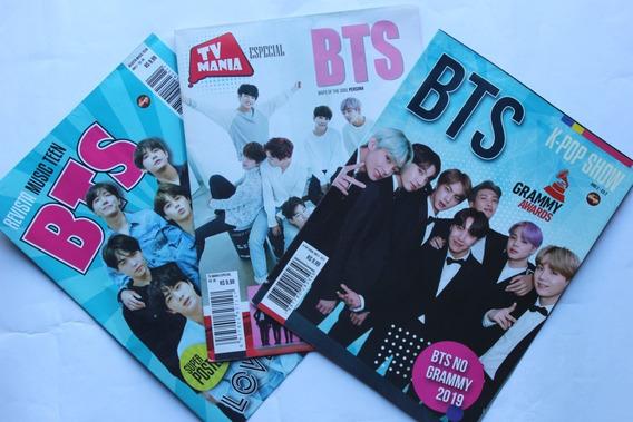 Kit Bts Com 3 Revista Pôster Ed. 01