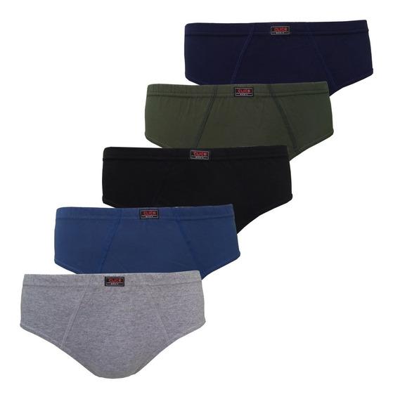 Kit 4 Cuecas Slip Tradicional Cor Sortida Super Confortáveis