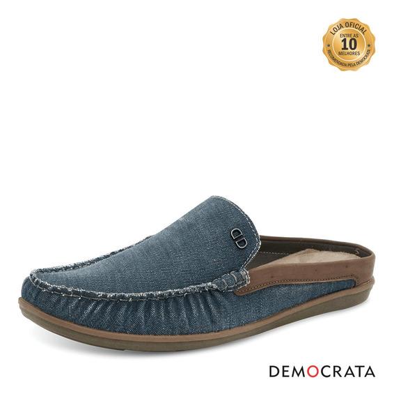 Mule Denim Tag Azul - Democrata