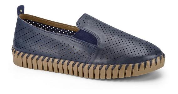Sapato Alpargata Bottero 315601 Comfort Em Couro Perfurado