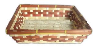 Charola De Bambu, Carrizo, Mimbre, Arcón, Canasta, 317041
