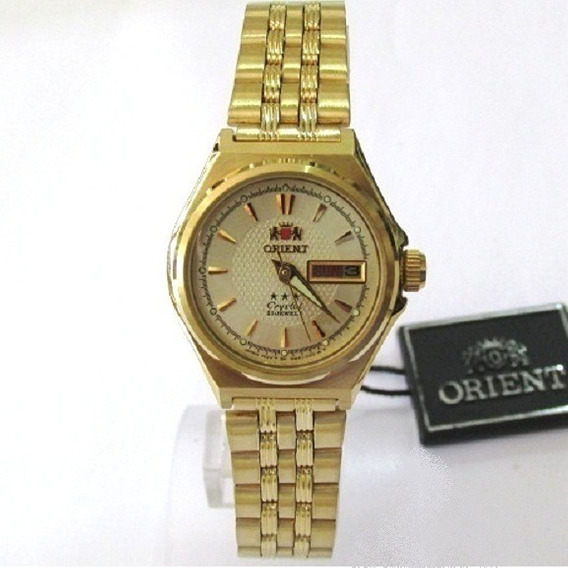 Reloj Orient Automático Dama Fnq1s001c9 Acero Dorad Original