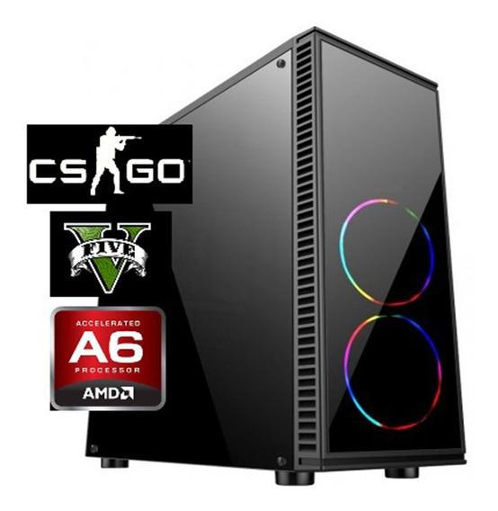 Cpu Gamer Barata Amd A6 7480 + 8gb Ram + Ssd120 + Video R5