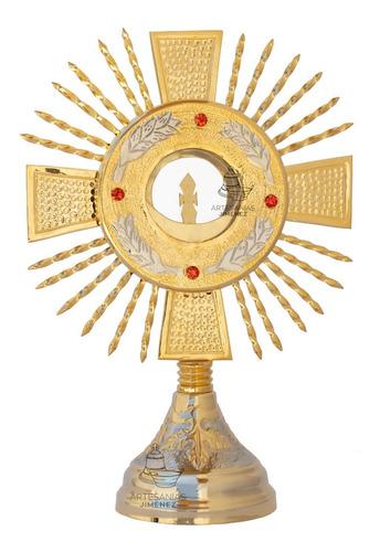 Imagen 1 de 9 de Custodia Liturgica Ostensorio 35 Cm