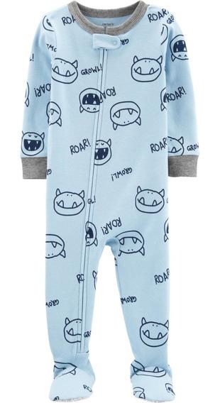 Pijama Enterito Carters Monstruo/dinosaurio Algodón C/pie