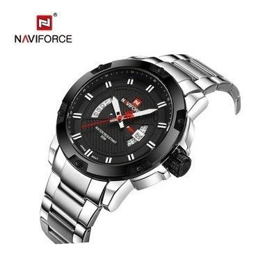Relógio Masculino Naviforce Racer Esportivo Nf9085 Preto