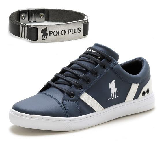 Tênis Masculino Polo Plus Confortável + Pulseira