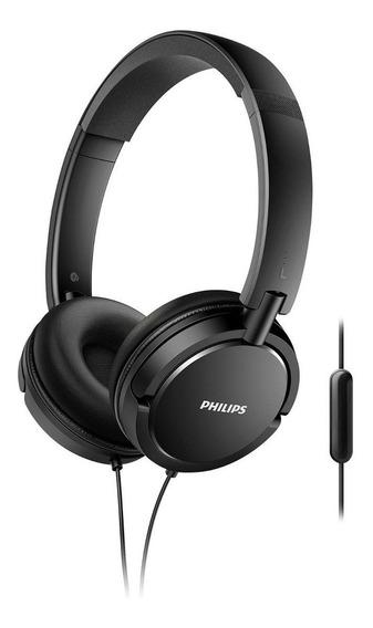 Fone De Ouvido Dinâmico Headphone Philips Cabo P2 Preto