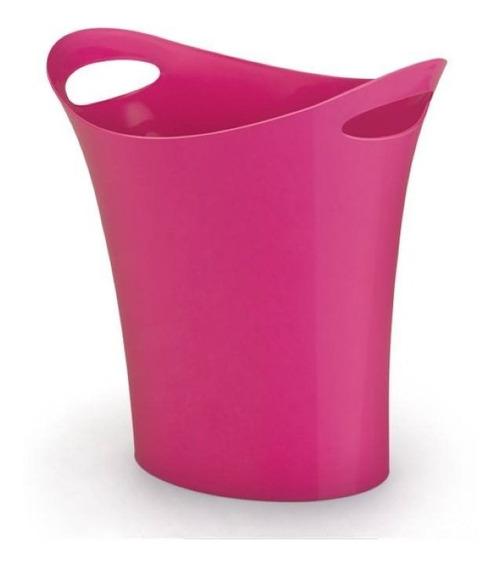 Cesto Para Lixo Plástico Rosa Waleu