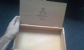 Caja De Habanos Montecristo De Madera - Original