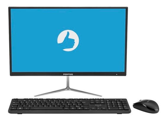 All In One Positivo Union C464a-21 Intel Celeron Windows 10 Home 4gb Led 21.5 Fullhd - Preto