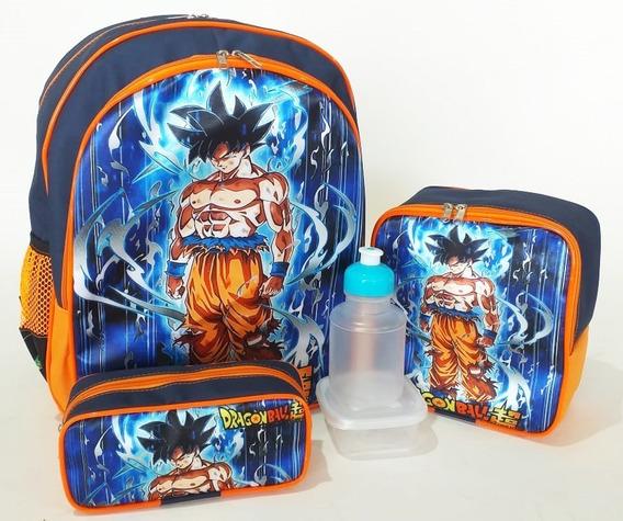 Kit Mochila Dragon Ball Super Costas Tam G Forrado