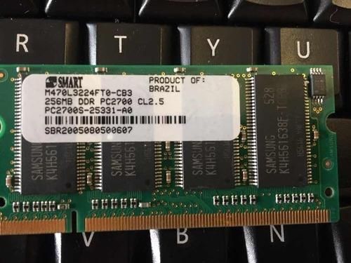 Memoria Notebook 256mb Ddr1 Smart Pc2700
